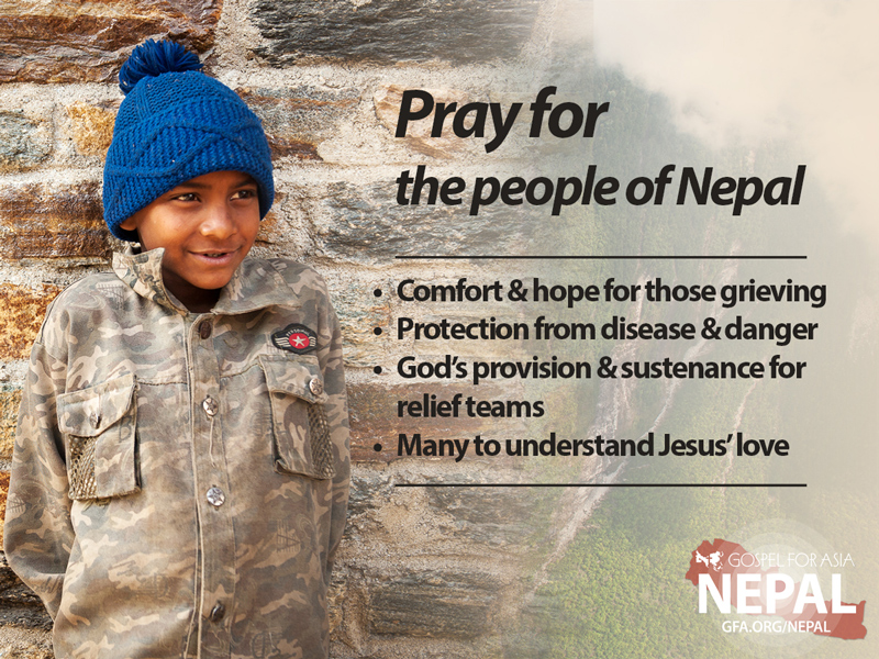 Pray for the people of Nepal