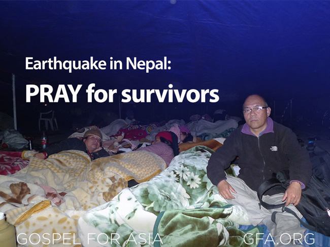 Earthquake in Nepal Pray for Survivors
