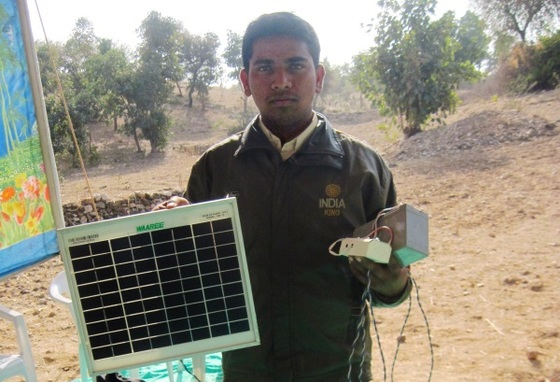 At a GFA-supported Christmas gift distribution, Kalpa received this solar light! This simple device provides bright light to study by. It will also help his family save money that they would have otherwise spent on kerosene to light their lamps at night.