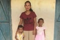 Rupal (right) with her mother and sister. Praise the Lord, Rupal now has a brighter future through the help of Bridge of Hope.