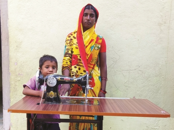 Navita, a widow, was in dire financial straits. The Lord provided a sewing machine for her, and now she can provide for her two children.