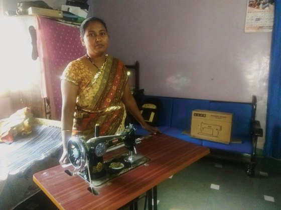When Reva received a sewing machine at a GFA Christmas gift distribution, her family's financial situation was transformed!