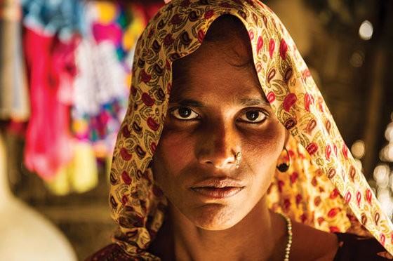 Millions of widows like Najma (not pictured) face a desperate struggle to provide for their families.