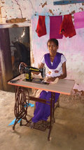 Gul's desire to help her hardworking father support the family was finally realized when her GFA-supported paster, Udai, arranged for her to receive a sewing machine.
