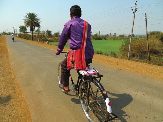 Now equipped with a bicycle, he can minister to each of his congregations–and his area of ministry has nearly doubled!
