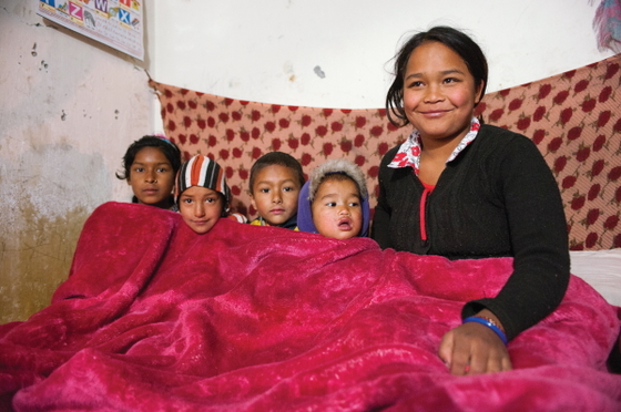 The gift of a blanket can spare an entire family from cold-related illnesses and discomfort; it can even warm cold hearts as families wrap themselves in a tangible example of Christ's love.