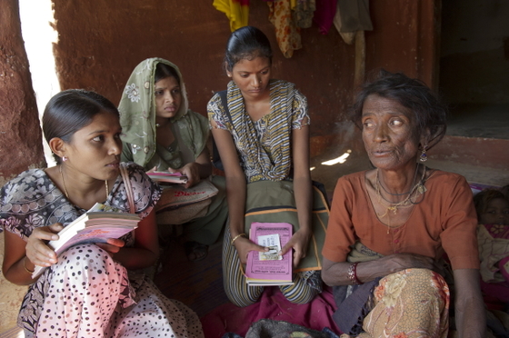 Women missionaries build relationships with women by regularly visiting their homes, listening to their hosts' concerns and praying together as the Lord leads them.