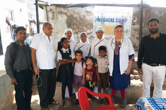Pastor Tarik, several doctors and Sisters of Compassion made the free medical camp possible