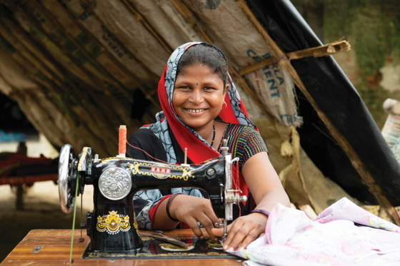 For the countless women solely responsible for providing their household's needs, a sewing machine is a tremendous help for earning a sufficient income.