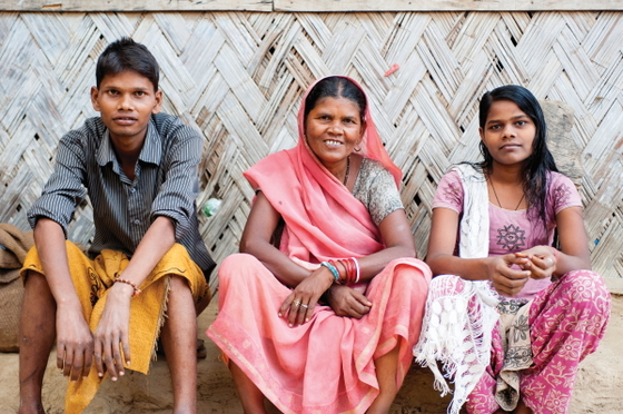 Many families, like Aman's family and the family pictured, have found hope and joy through the ministry and friendship of GFA workers and pastors.