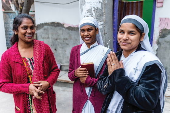 GFA Sisters of Compassion, like these women missionaries, are committed to ministering to impoverished and suffering people, such as widows, leprosy patients and slum residents. However, they often share hope with many other people in their communities, too, just as Raka and Nandali did.