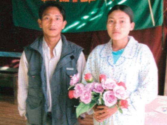 Shway Khin and Mya Htet