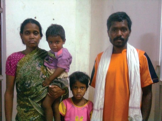 Ujendra and his family