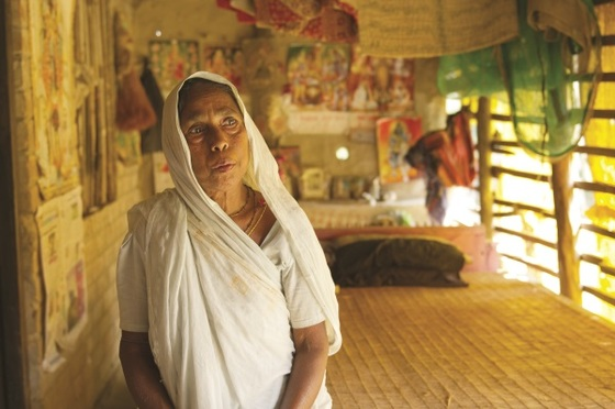Like Harsika, the woman in this photo also lost her husband. They both found comfort through the prayers, support and encouragement of GFA-supported workers.