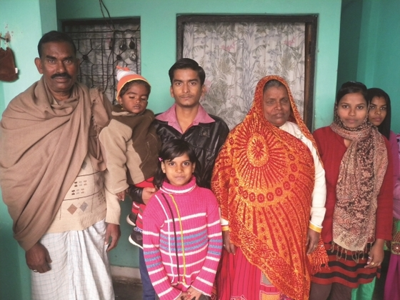 This is Bina with her family. It wasn't until Bina happened upon a GFA-supported radio broadcast that hope penetrated the sorrowful mother's dark world.