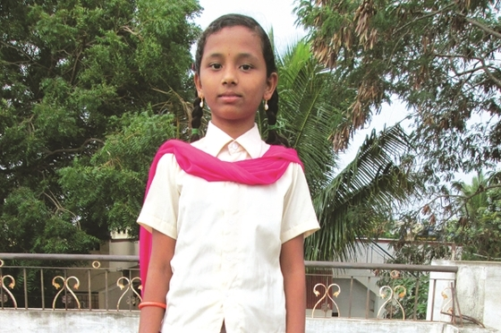 This is Dhruvi. Her life was transformed through Bridge of Hope.