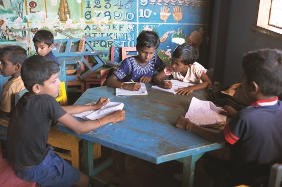 Times of study at GFA-supported Bridge of Hope centers enable children like these to excel.