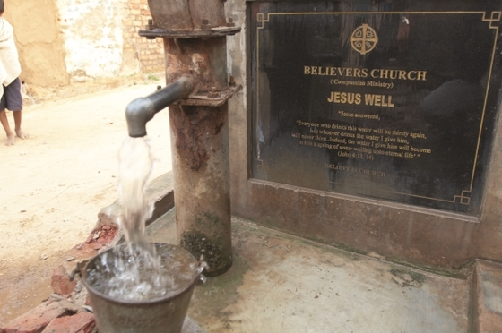 Pastor Barasaat, along with many other believers in his village, were banned from using the local water source because of their trust in Jesus. But that trust did not put them to shame—God provided a Jesus Well for them, like the one pictured.