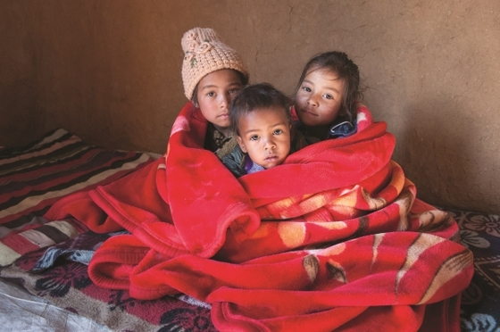 Blankets are a tremendous blessing to the families of recipients, keeping them warm through long winter nights.