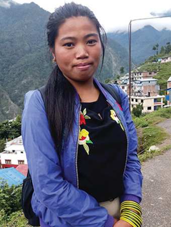 Abekwa (pictured) got a chance to reclaim her future when she enrolled in GFA World's Bridge of Hope Program.