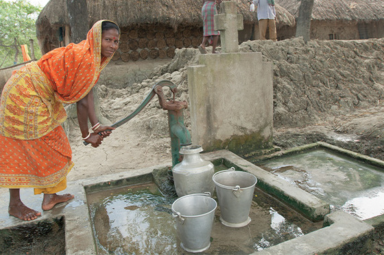 Jesus Wells bring desperately needed clean water—and the grace found in the Living Water—to people like Jahaira and the woman pictured.