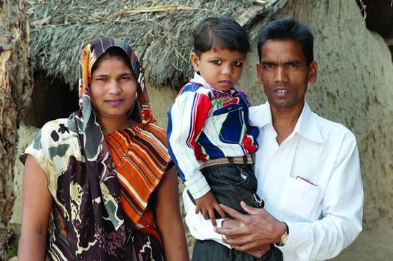 Hasan and Sajala, like the family pictured, struggled to meet their basic needs until the Lord brought them hope in the form of an income-generating gift.