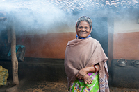 Leprosy patients in Asia often experience stigma and isolation, but many, like the woman pictured, have found hope as GFA workers show God's care and sometimes provide medical assistance.