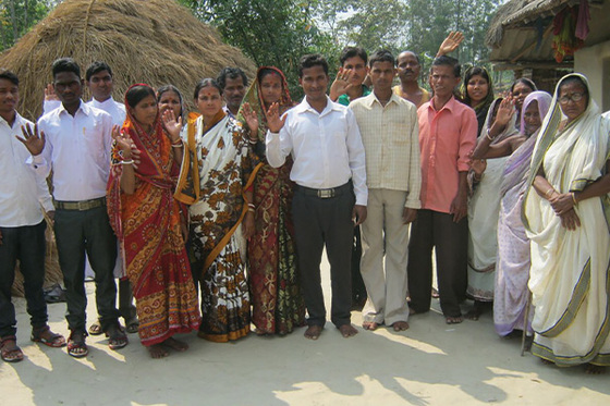 <p>Many people in Basea's community (pictured) experienced a new sense of joy and peace after encountering Jesus.</p>