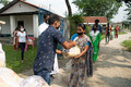 Food being given out to people in need by GFA Workers.