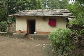 This is a typical village home in a forested area in the Bastar Chhattisgarh Region.