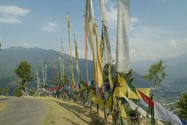 Religion is an intricate part of Bhutanese life. Prayer flags can be found all over the country in hopes that the wind will bring the prayers written on them to the gods.