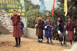 Archery is the national sport of Bhutan, and it is played by men from all walks of life.