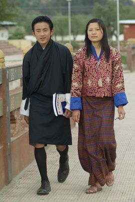 All Bhutanese citizens are required to wear the national dress.