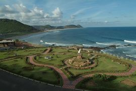 Visakhapatnam, one of India's largest cities, is being beautified as one of its major tourist centers as well. This seaside park is just one of the places that attracts visitors.
