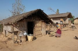 Garo tribals do all of their work by hand.