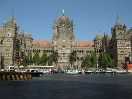 Bombay's famous Victoria Terminus, known as the VT, was built in 1888 and still serves as the main train station for the city of Mumbai.