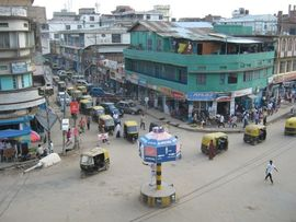 The city of Dimapur is the commercial hub of Nagaland.