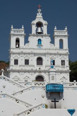 Because Goa was once a Portuguese colony, its architecture speaks of its history, including the Church of Mary Immaculate Conception basilica.