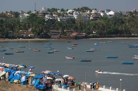 Tourists flock to the many beaches of Goa, which borders the Arabian Sea.