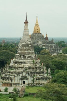 Pagodas jut out from the fertile landscape throughout the North Myanmar Region.