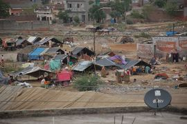 Despite having the lowest number of poor people of any state in India, Punjab still has people living in makeshift slums.