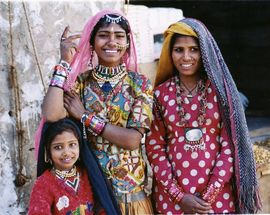 The people of Rajasthan are world-renowned producers of jewelry and colorful cloth.