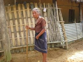 This elderly lady is a member of the nomadic Reang people of Tripura, the second-largest indigenous community in the state.