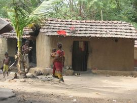 Many of the people in the Purulia Region live in tribal villages like this one.