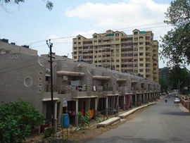 Many who live in South Gujarat's larger cities call apartment buildings like these home.