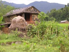 This is a typical house made of stone in the Western Nepal Region.