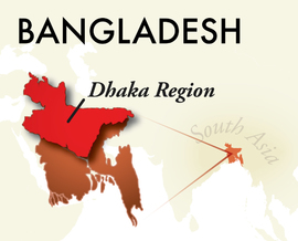 The Dhaka Bangladesh Region