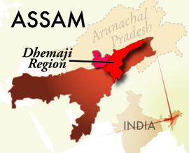 The Dhemaji Assam Region