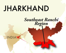 The Southeast Ranchi Jharkhand Region