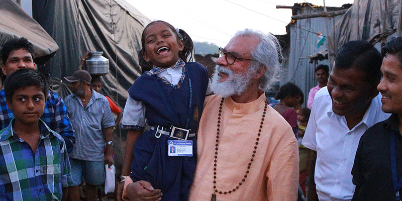 KP Yohannan visits children in slum